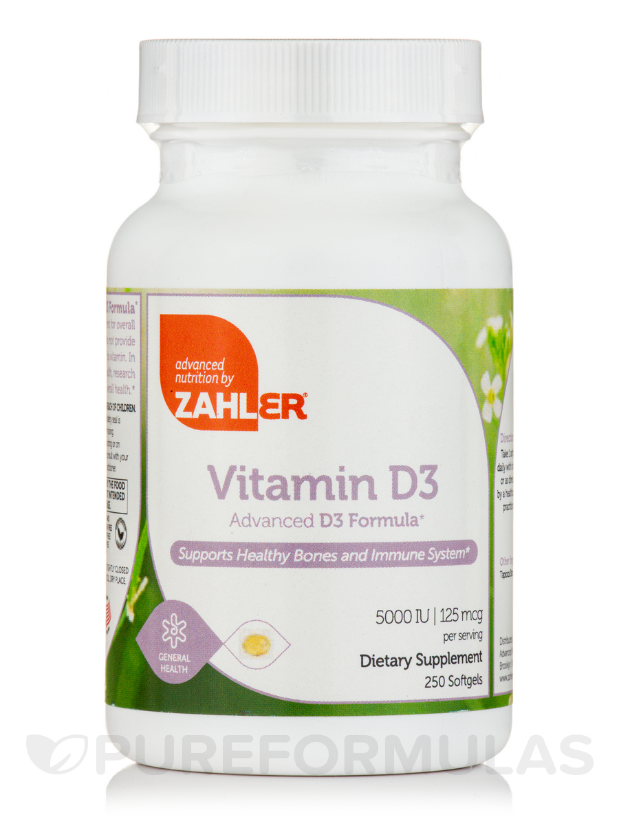 Vitamin D3 5000 IU - 250 Softgels