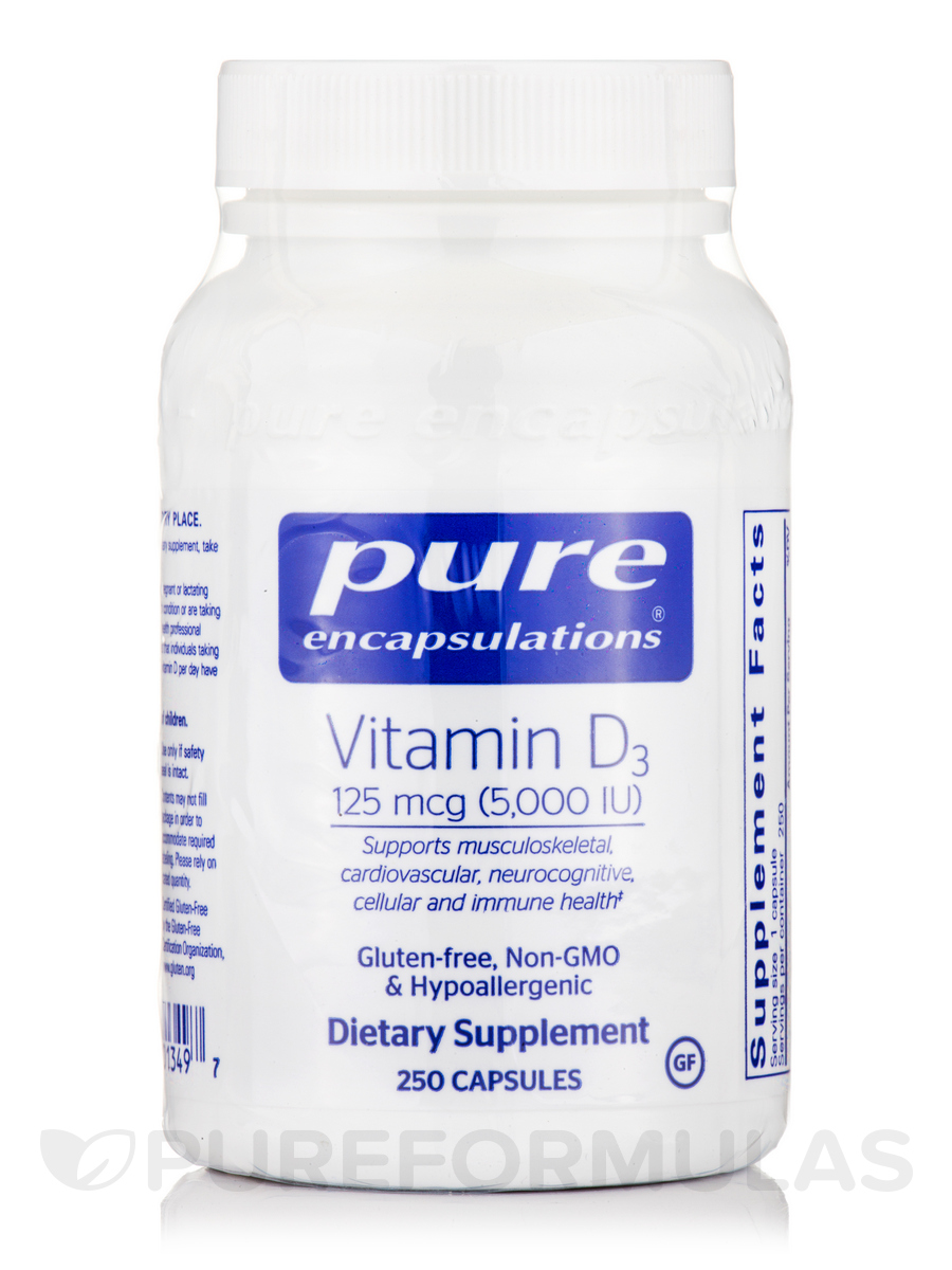 Vitamin D3 5,000 IU - 250 Capsules