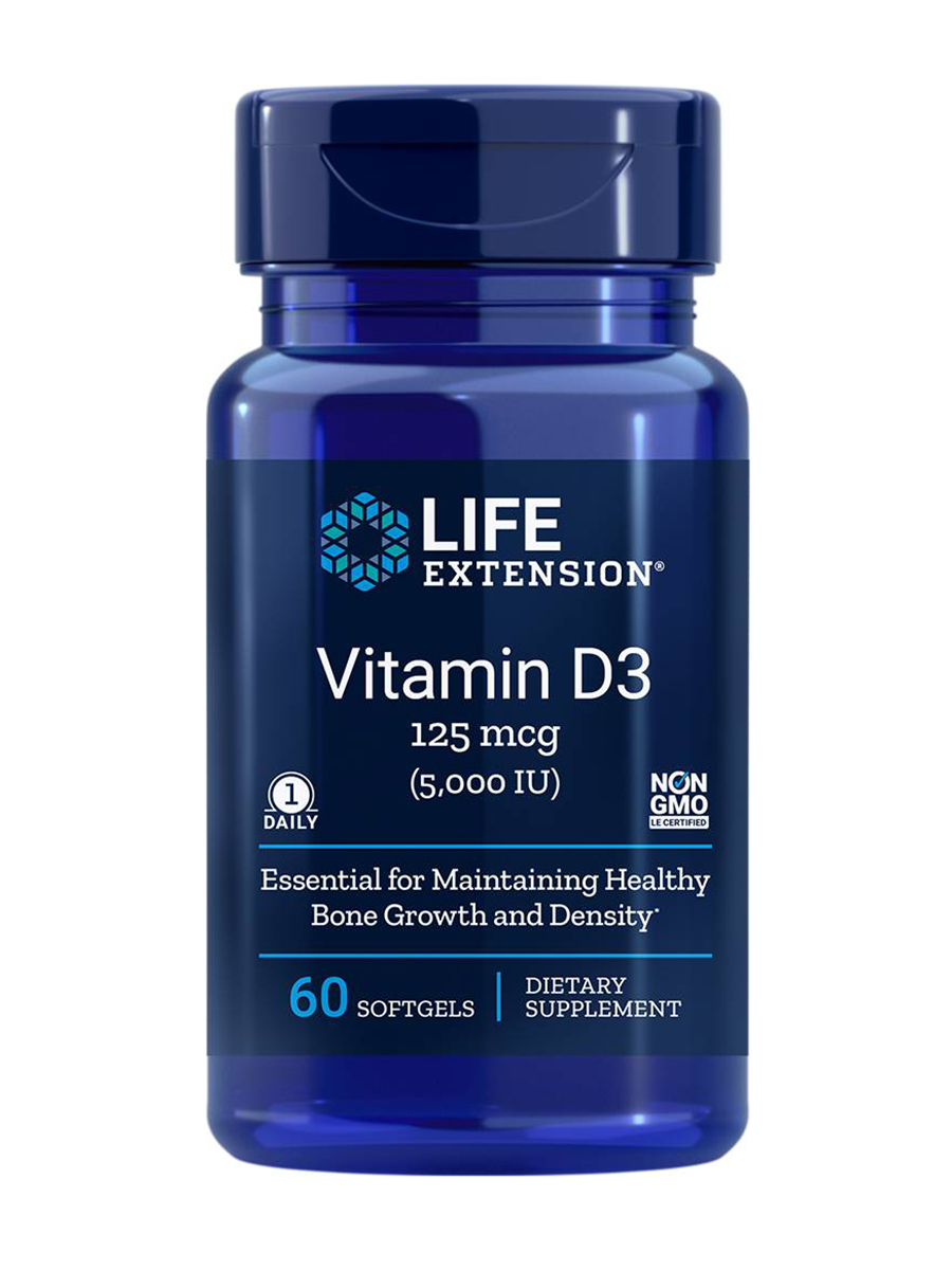Vitamin D3 5000 IU - 60 Softgels