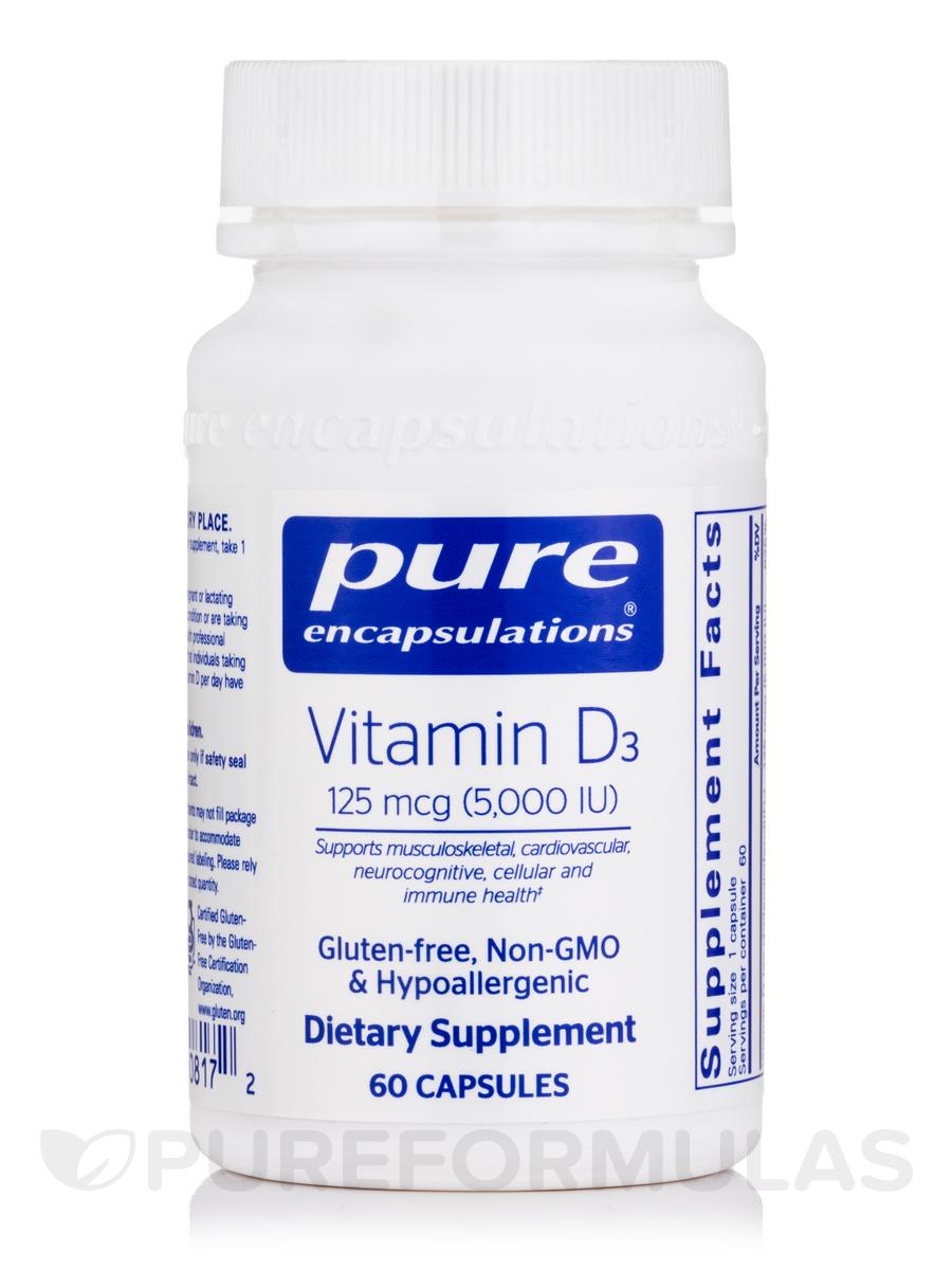Vitamin D3 5,000 IU - 60 Capsules