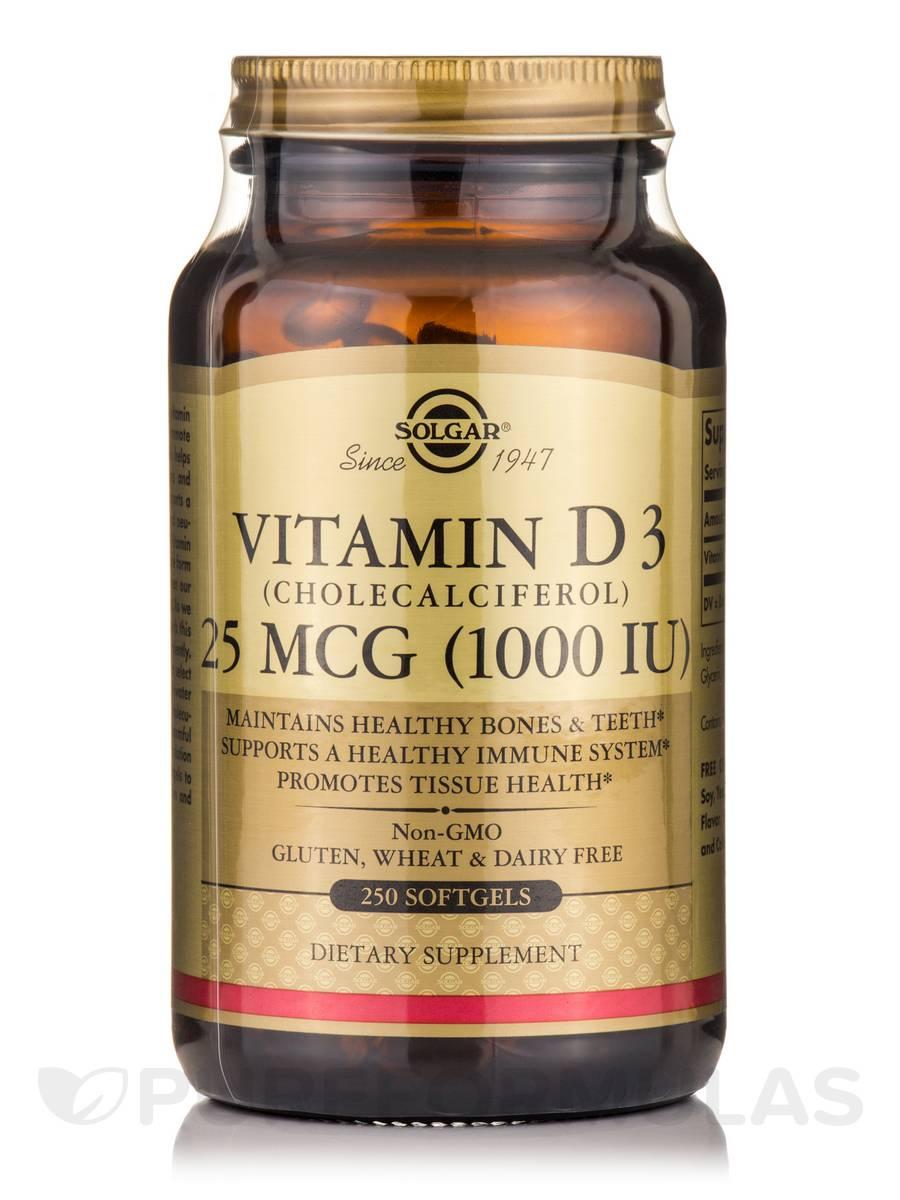 Vitamin D3 (Cholecalcifederol) 1000 IU - 250 Softgels