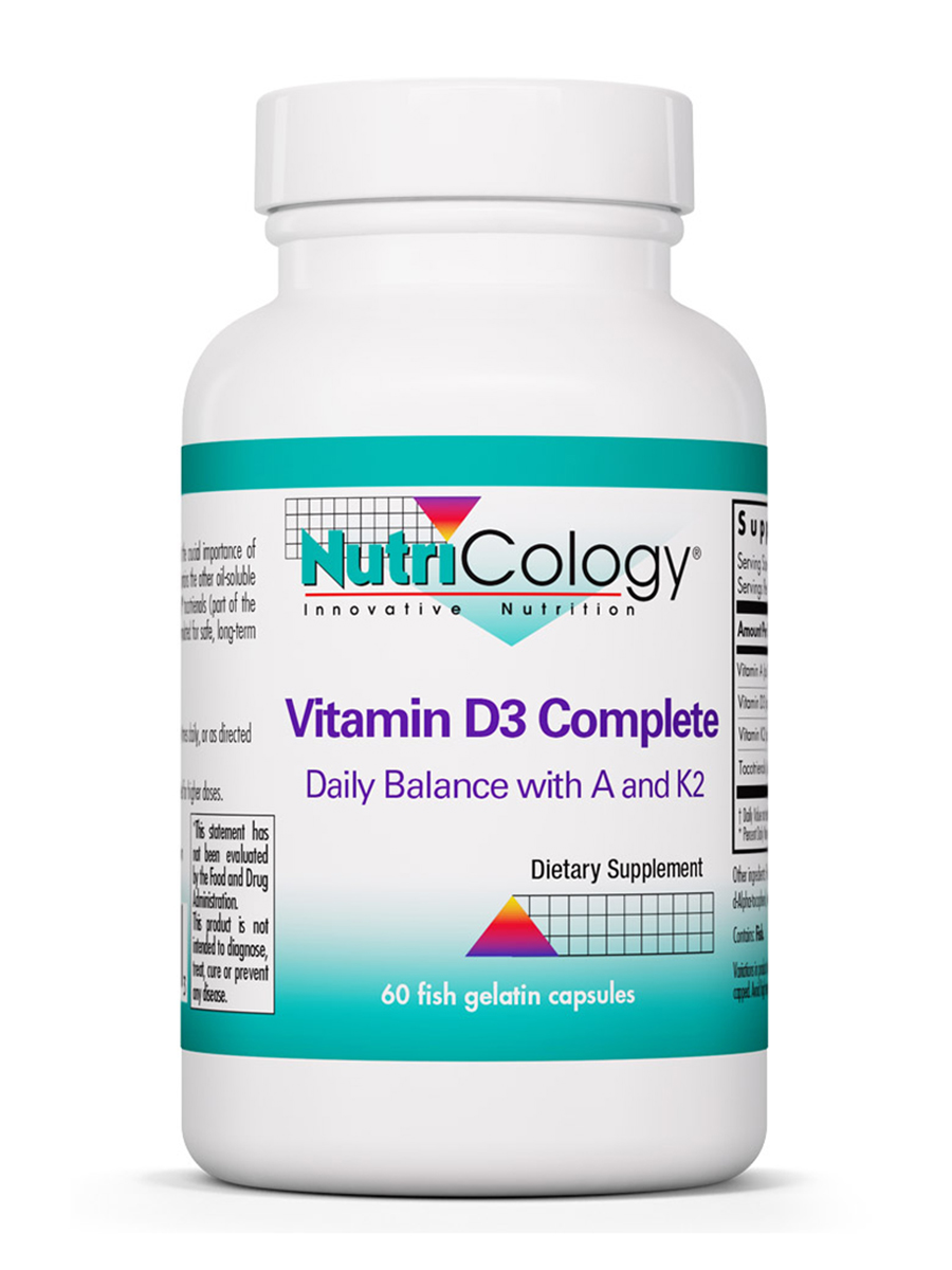 Vitamin D3 Complete with Vitamin A & K2 - 60 Capsules