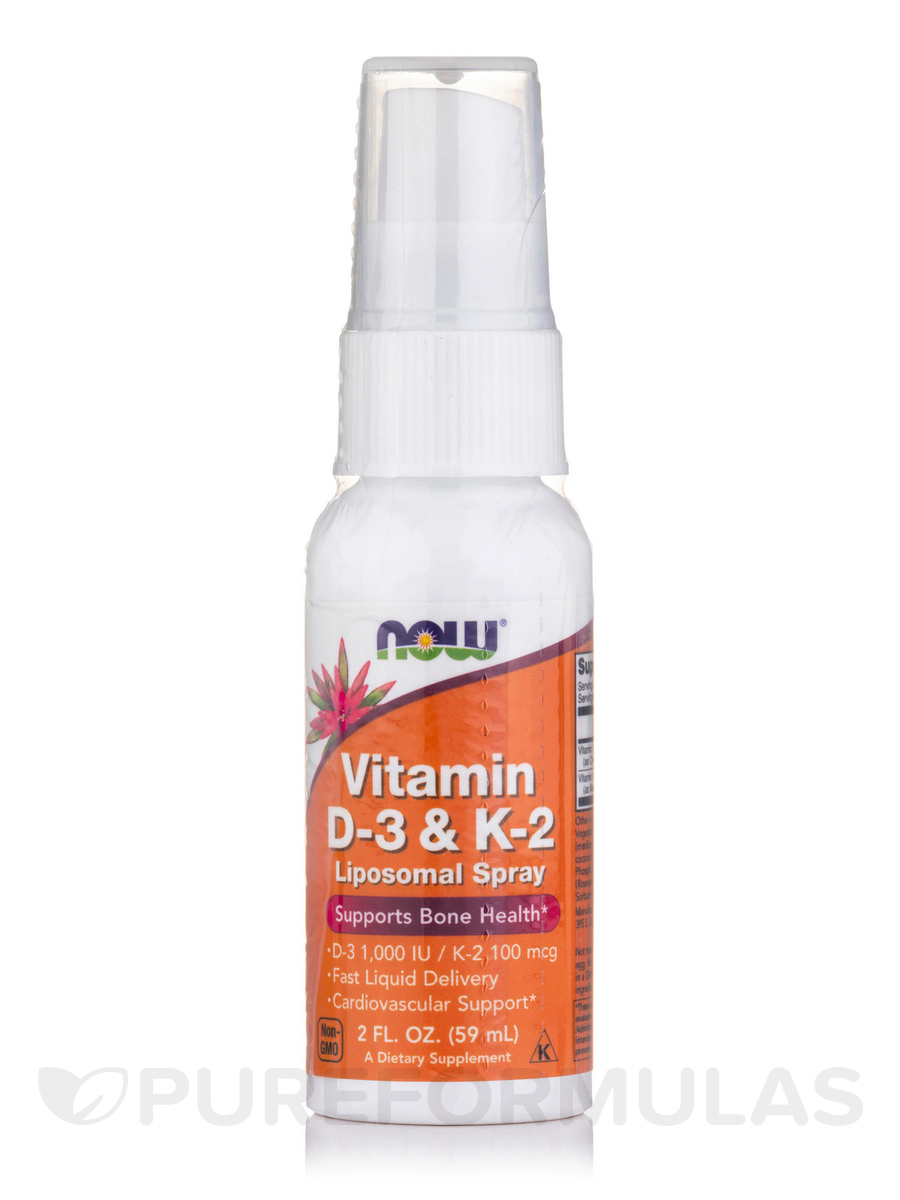 Vitamin D-3 & K-2 Liposomal Spray - 2 fl. oz (59 ml)