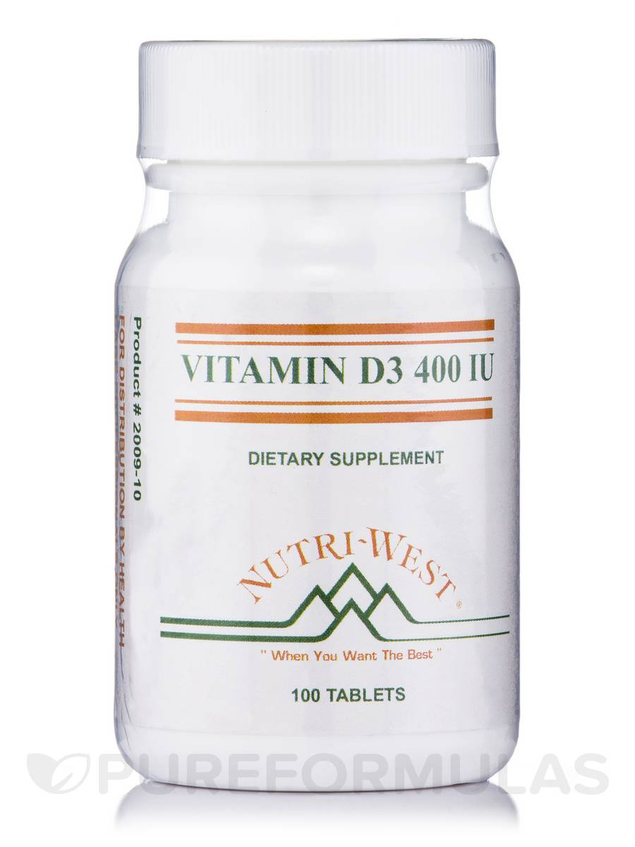 Vitamin D3 400 IU - 100 Tablets