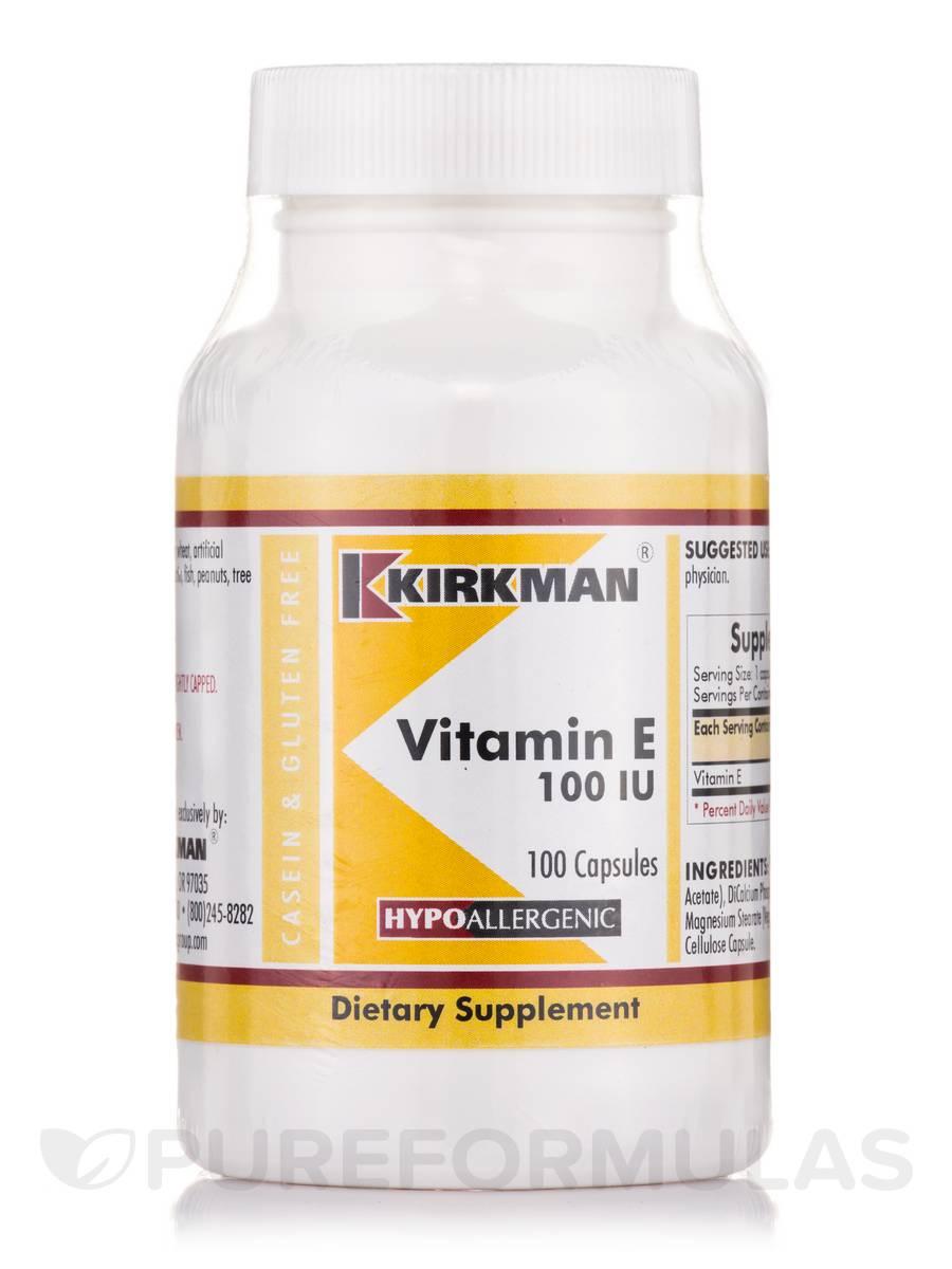Vitamin E 100 IU -Hypoallergenic - 100 Capsules