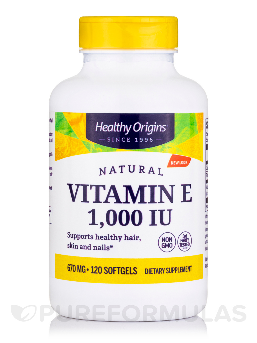 E-1000 Naturally Sourced Mixed Tocopherols - 120 Softgels