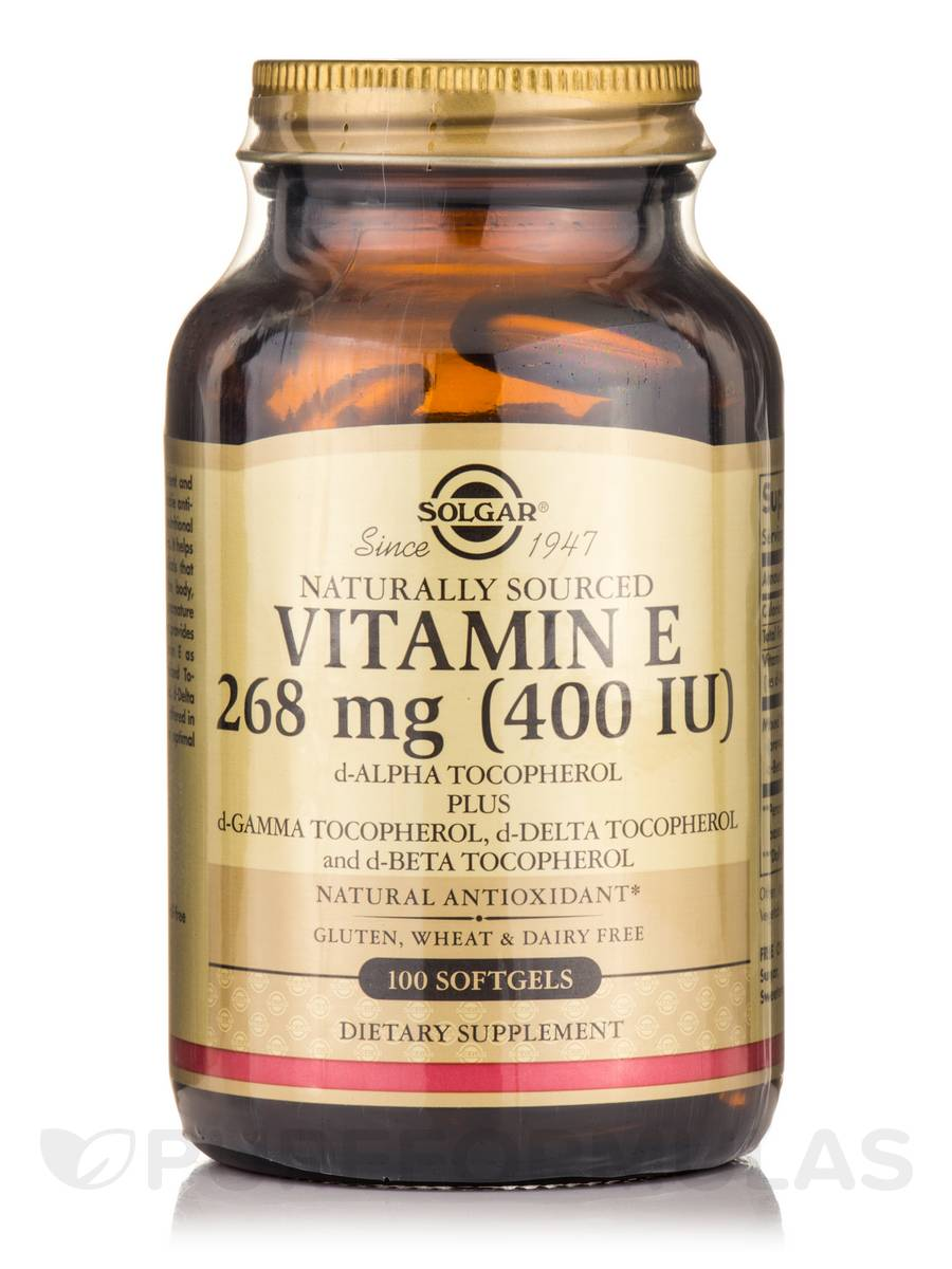 Vitamin E 400 IU (400 IU d-Alpha Tocopherol & Mixed Tocopherols) - 100 Softgels