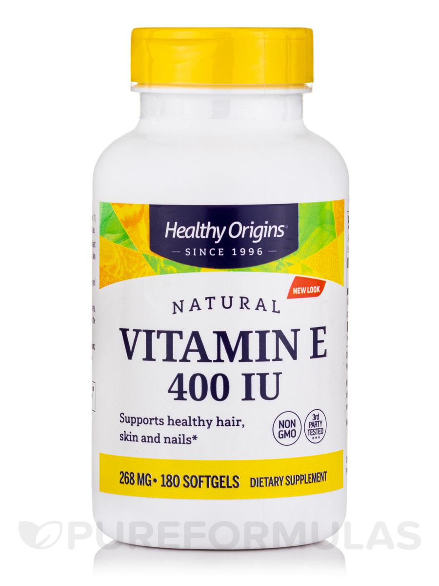 Vitamin E 400 Iu Natural Mixed Tocopherols 180 Softgels