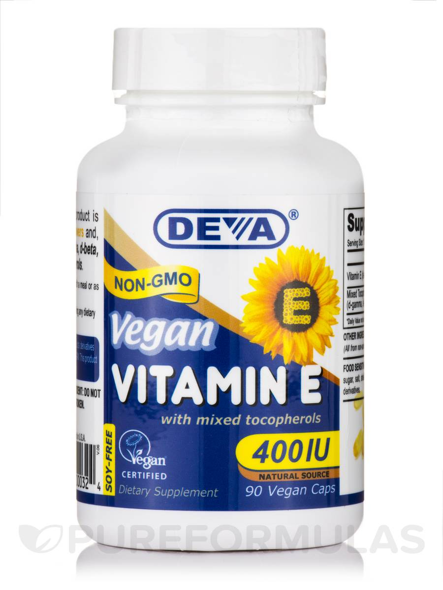 Vegan Vitamin E 400 IU with Mixed Tocopherols - 90 Vegan Capsules