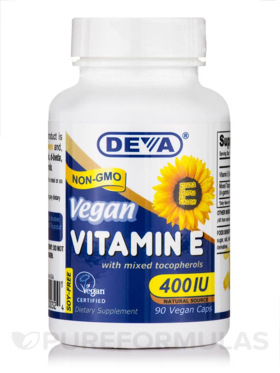 Vegan Vitamin E 400 Iu With Mixed Tocopherols 90 Vegan Capsules