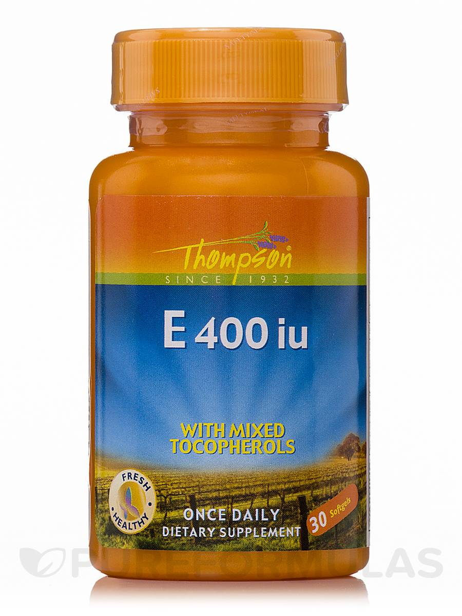 Vitamin E 400 IU with Mixed Tocopherols - 30 Softgels
