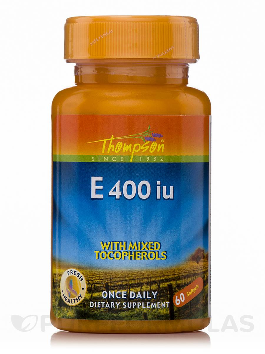 Vitamin E 400 IU with Mixed Tocopherols - 60 Softgels
