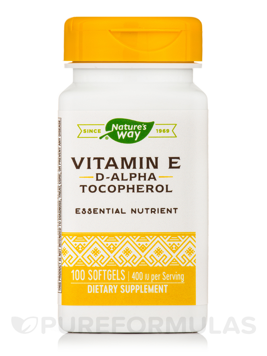 Vitamin E-400 IU - 100 Softgels
