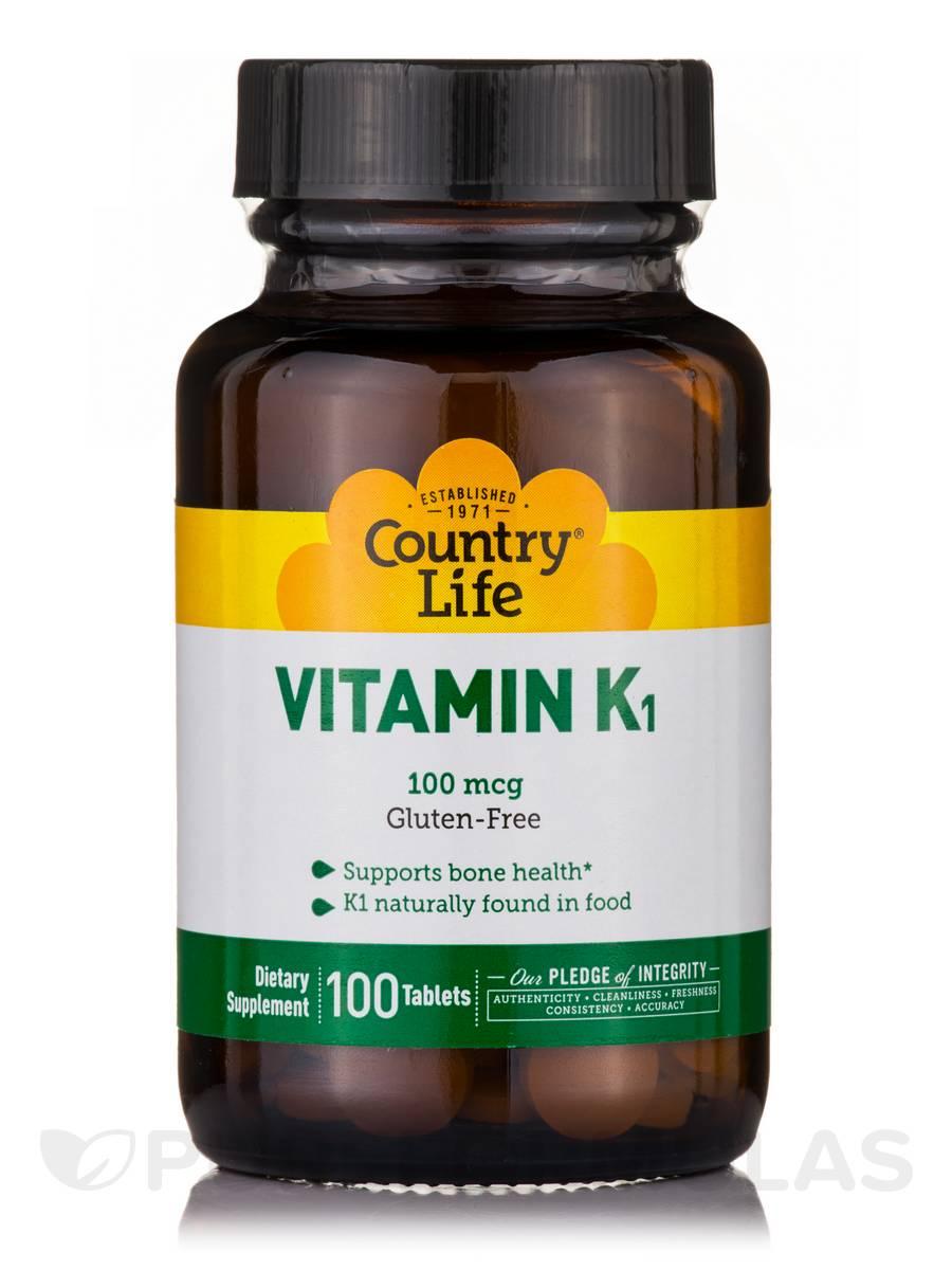 Vitamin K-1 100 mcg - 100 Tablets