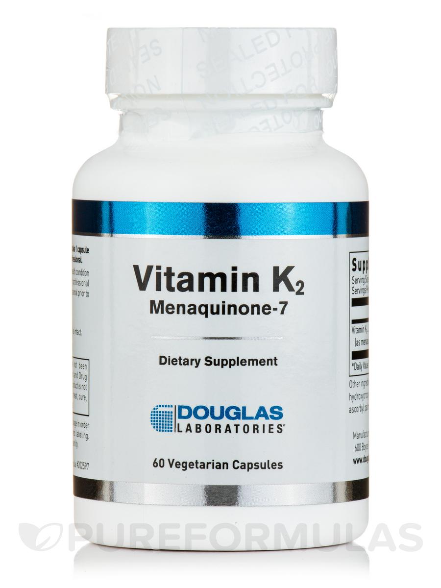 Vitamin K2 (Menaquinone-7) - 60 Vegetarian Capsules