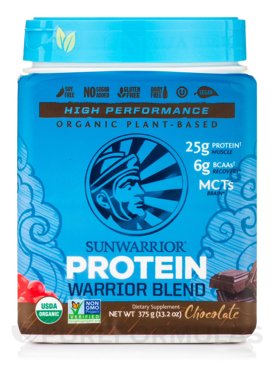 Warrior Blend (Plant-Based Organic Protein, Chocolate Flavor) - 13.2 oz (375 Grams)