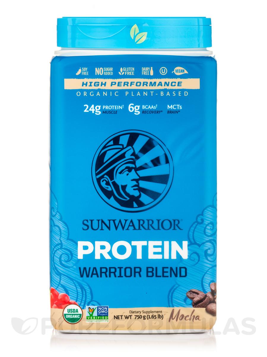 Warrior Blend (Plant-Based Organic Protein, Mocha Flavor) - 1.65 lb (750 Grams)