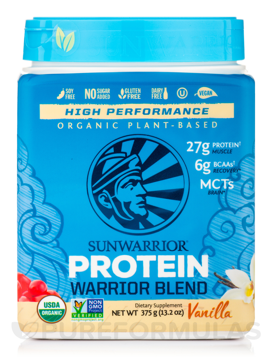 Warrior Blend (Plant-Based Organic Protein, Vanilla Flavor) - 13.2 oz (375 Grams)