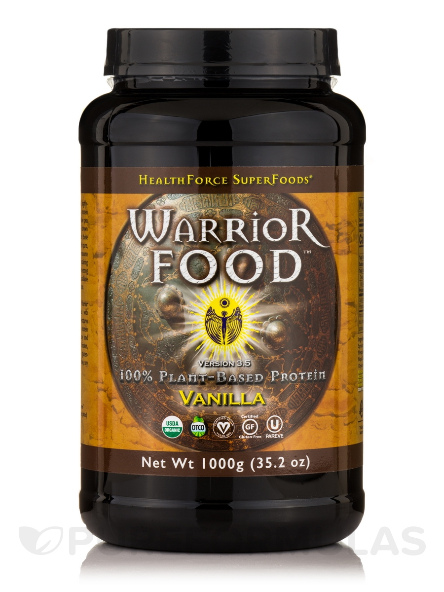 Warrior Force™ Warrior Food™ Powder, Vanilla Flavor - 35.2 oz (1000 Grams)