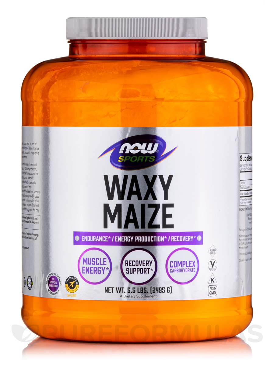 NOW® Sports - Waxy Maize Powder - 5.5 lbs (2495 Grams)