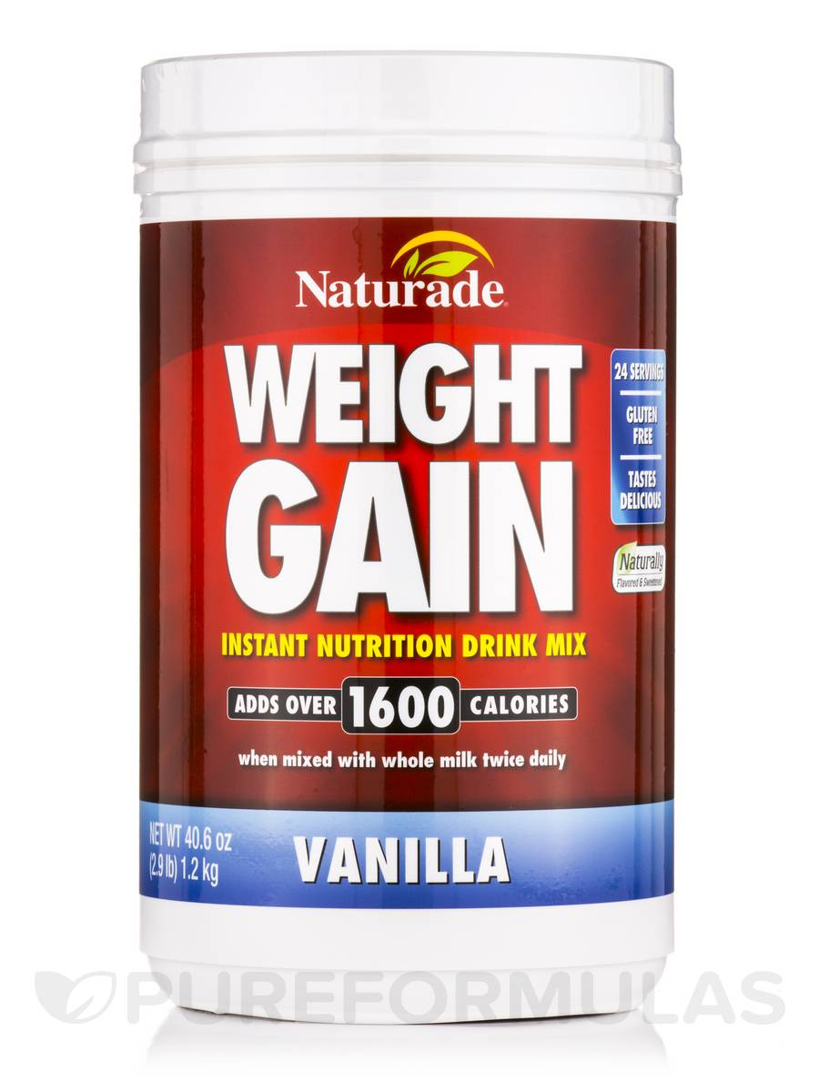 Weight Gain Powder, Vanilla - 40.6 oz (2.9 lb / 1.2 kg)