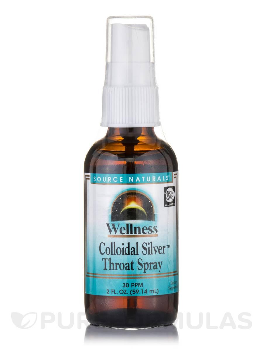 Colloidal silver throat