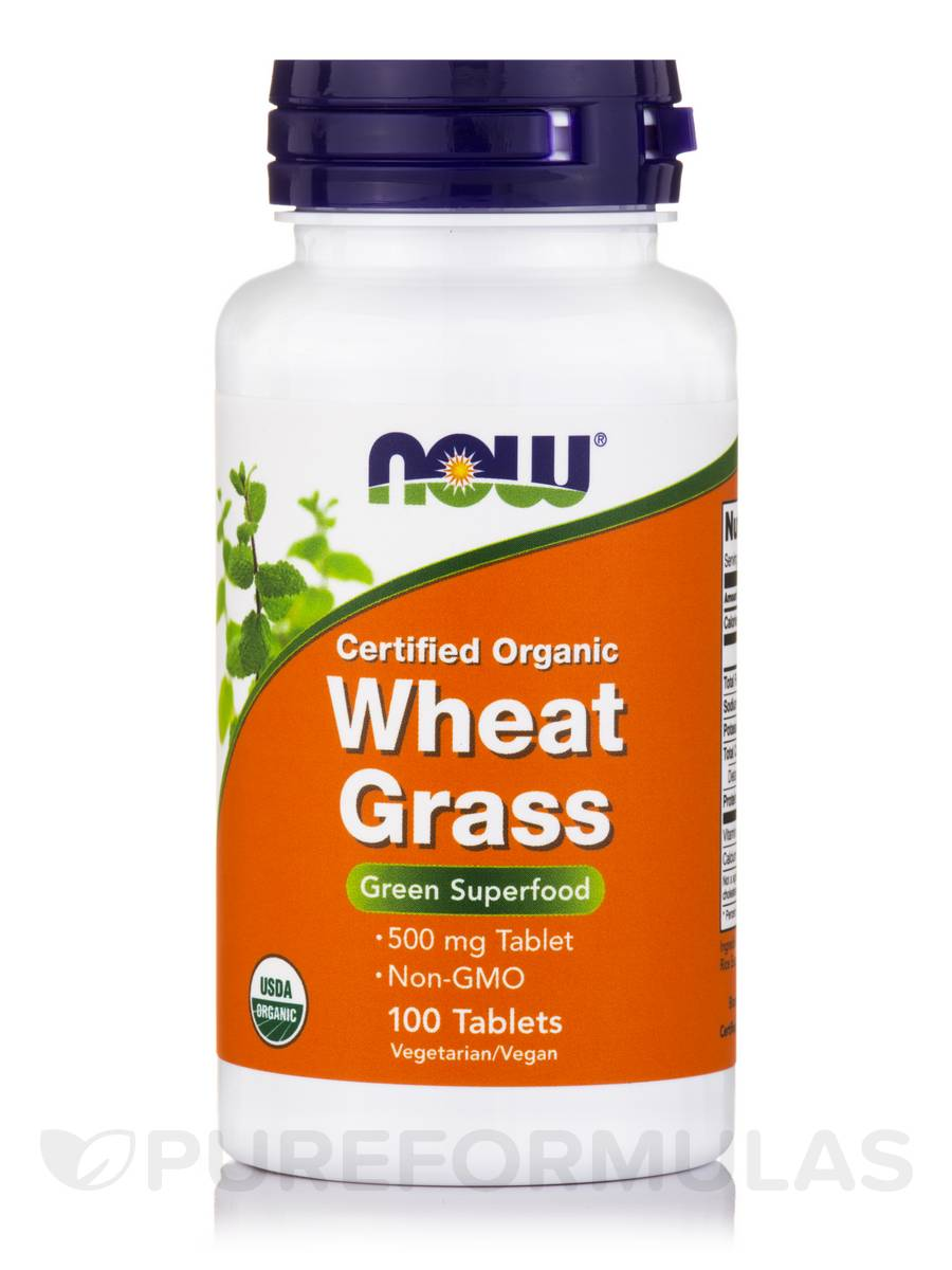 Wheat Grass (Organic) 500 mg - 100 Tablets