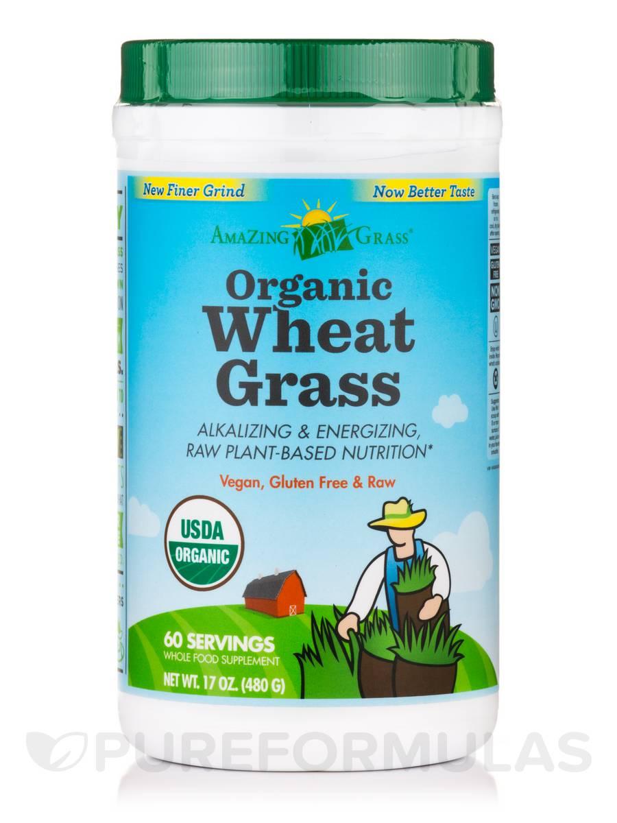 Organic Wheat Grass Powder - 60 Servings (17 oz / 480 Grams)
