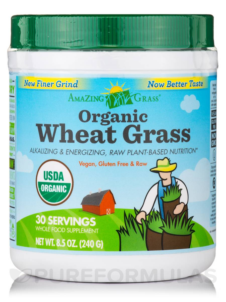 Organic Wheat Grass Powder - 30 Servings (8.5 oz / 240 Grams)