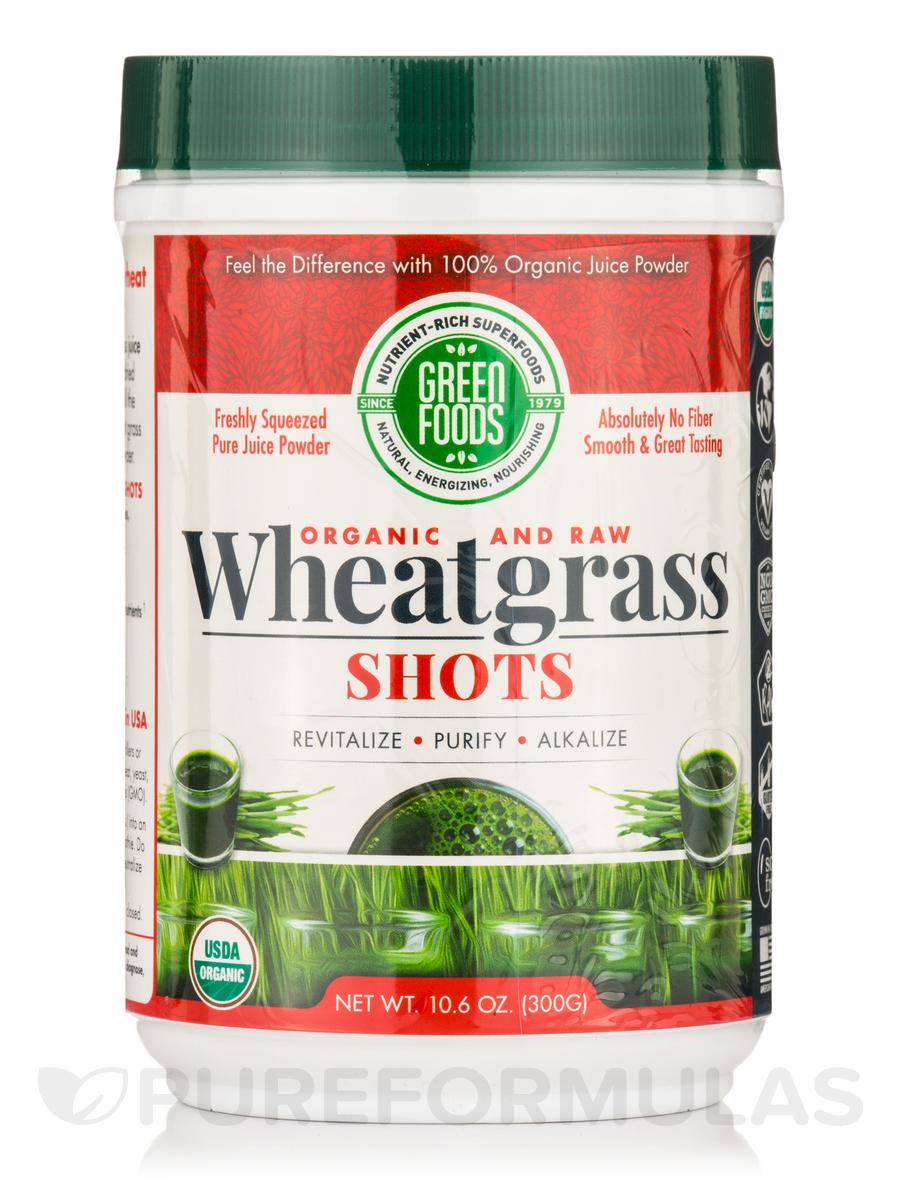 Organic and Raw Wheat Grass Shots - 10.6 oz (300 Grams)