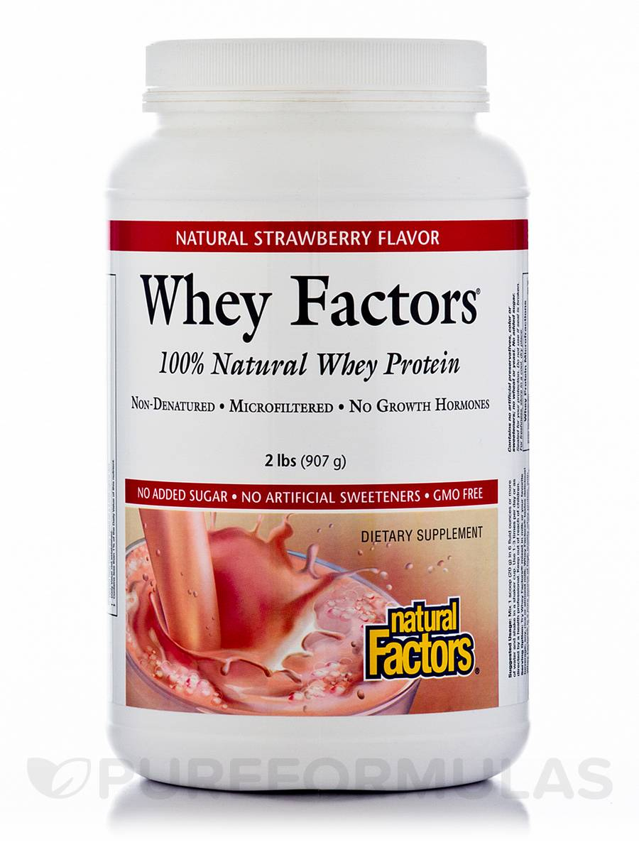 Whey Factors Powder Mix Strawberry - 2 lbs (907 Grams)