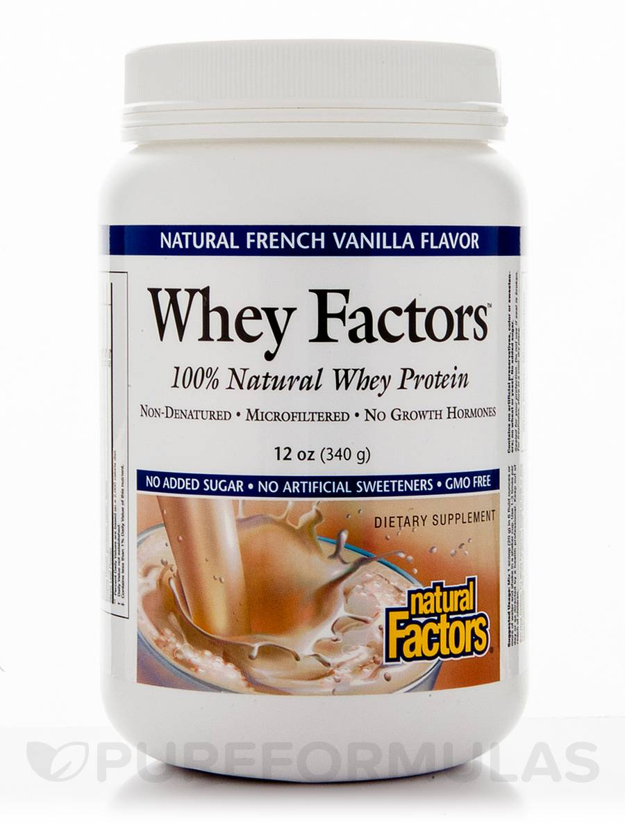 Whey Factors Powder Mix French Vanilla - 12 oz (340 Grams)