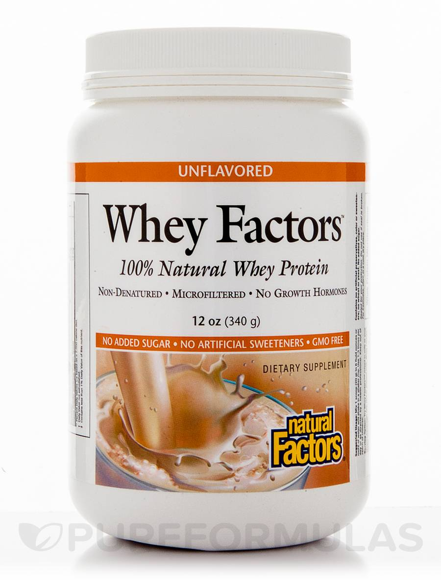 Whey Factors Powder Unflavored - 12 oz (340 Grams)