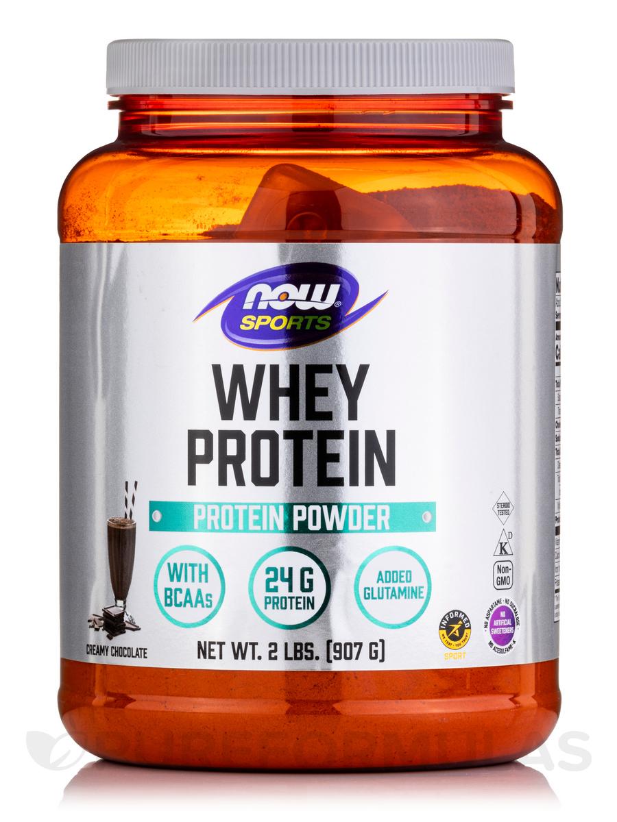 NOW® Sports - Whey Protein, Dutch Chocolate Flavor - 2 lbs (907 Grams)
