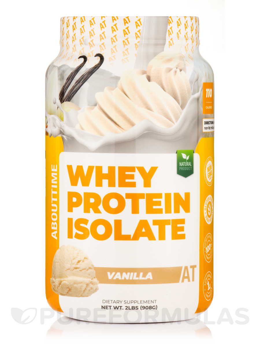 Whey Protein Isolate Vanilla - 2 lb (908 Grams)