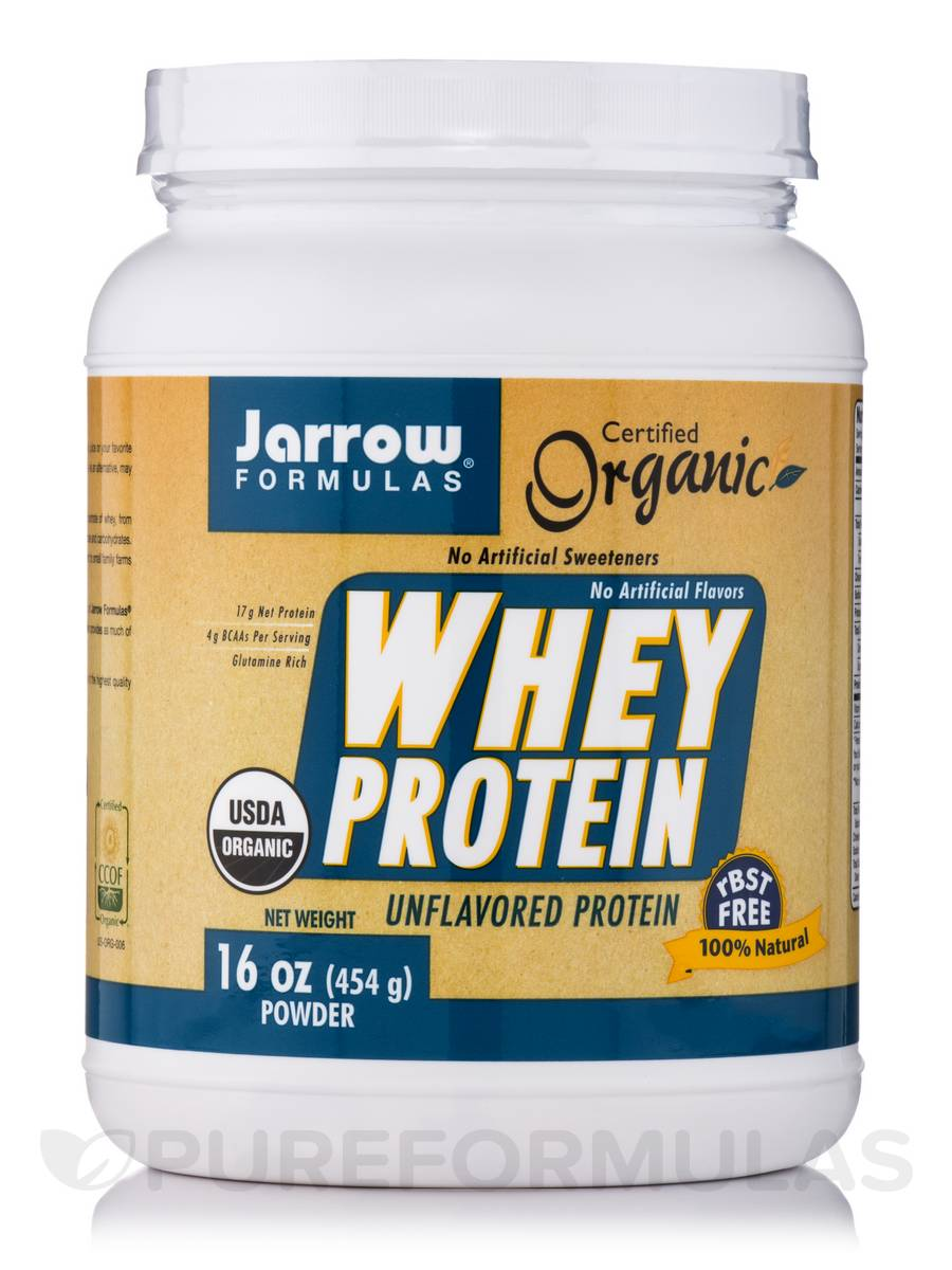 Whey Protein (Organic) Unflavored - 16 oz (454 Grams)