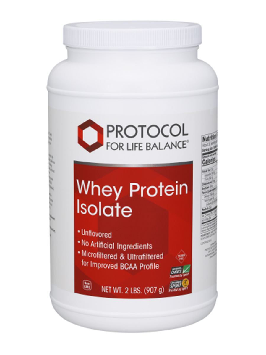 Whey Protein Isolate (100% Pure - Natural Unflavored) - 2 lbs (907 Grams)