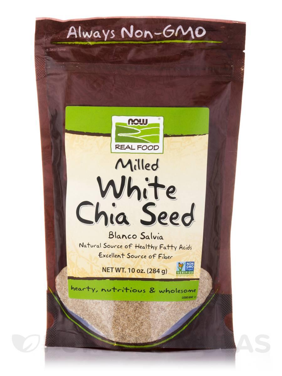 NOW® Real Food - White Chia Seed, Blanco Salvia - 10 oz (284 Grams)
