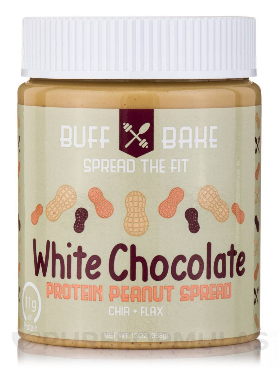 White Chocolate Protein Peanut Butter Spread - 13 oz (368 Grams)