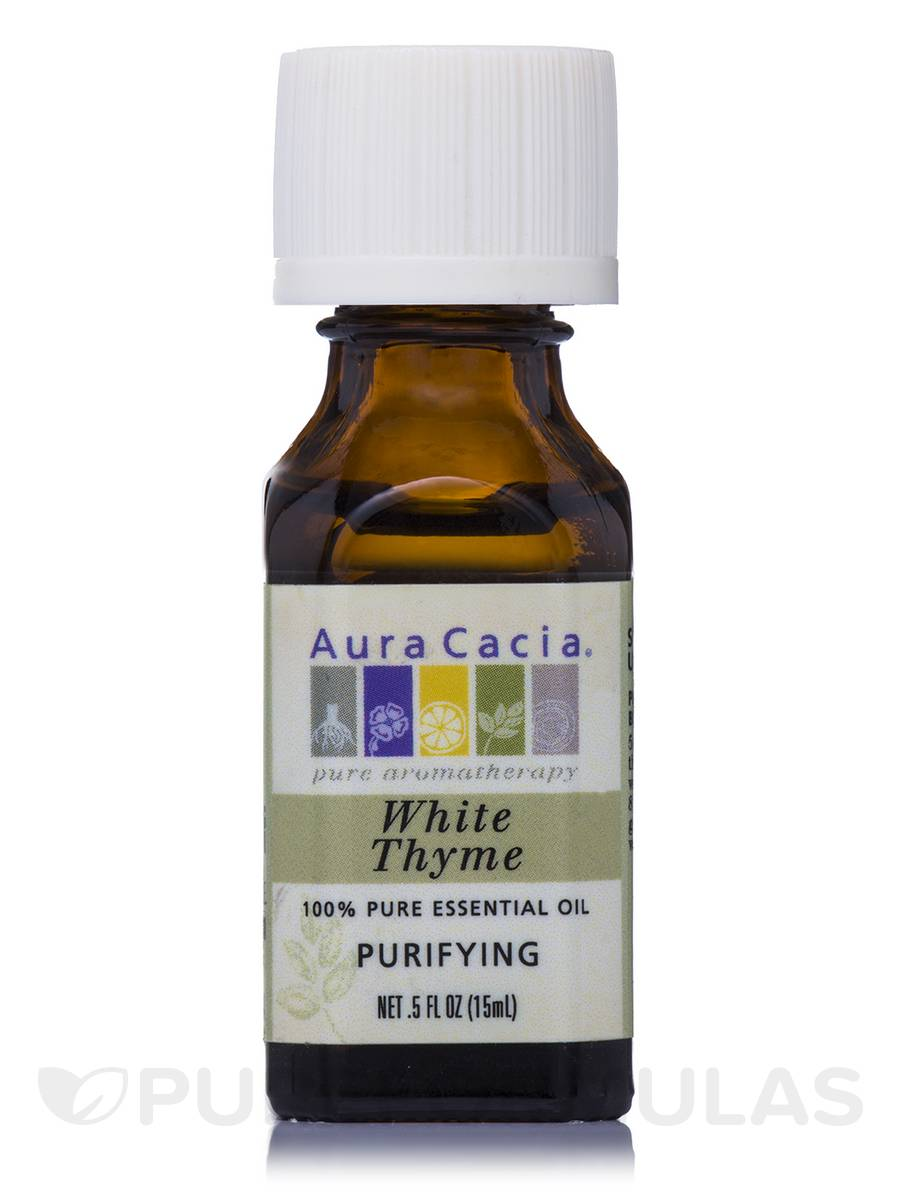 White Thyme Essential Oil (thymus vulgaris) - 0.5 fl. oz (15 ml)