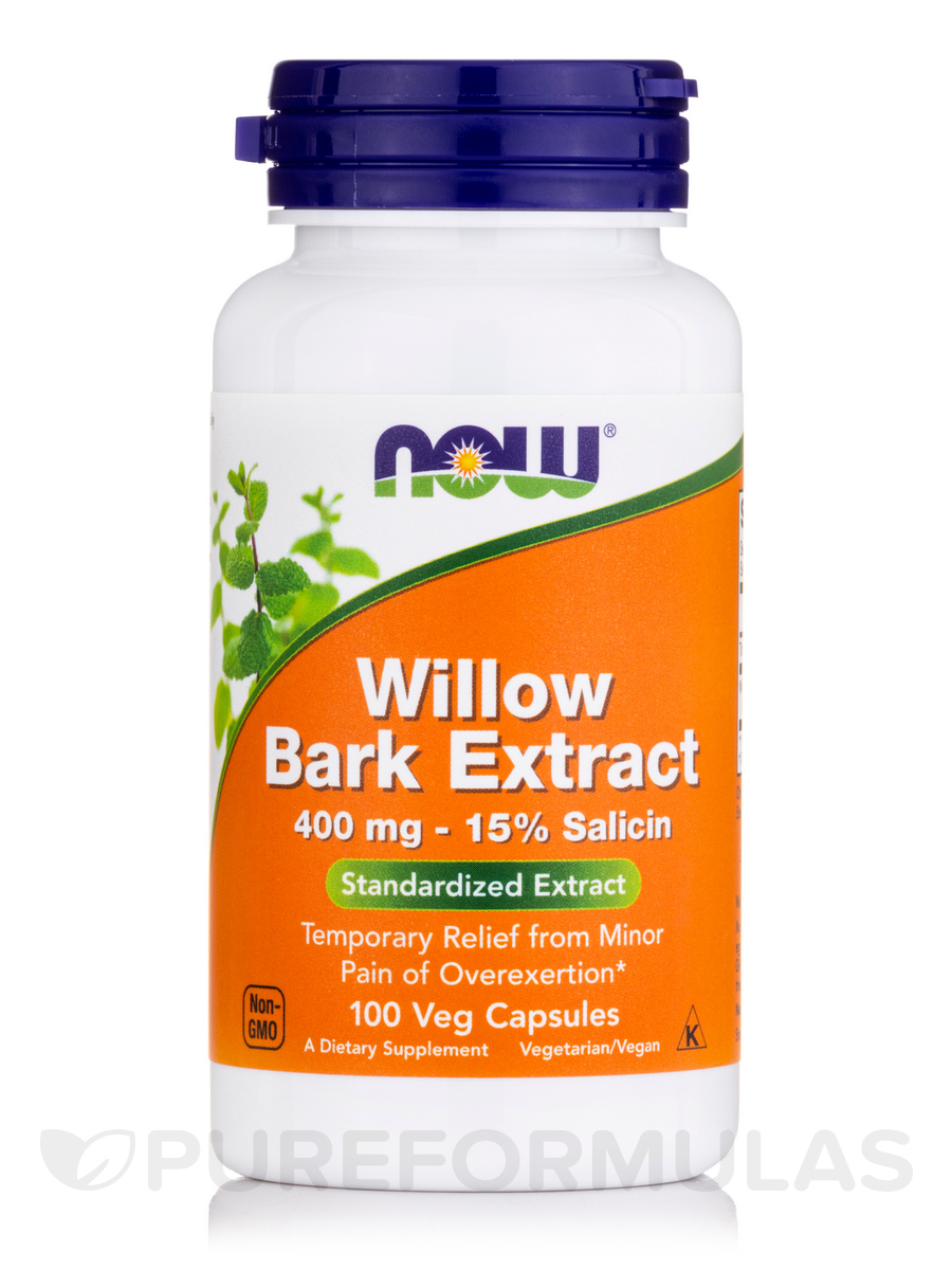 Willow Bark Extract 400 mg - 100 Capsules