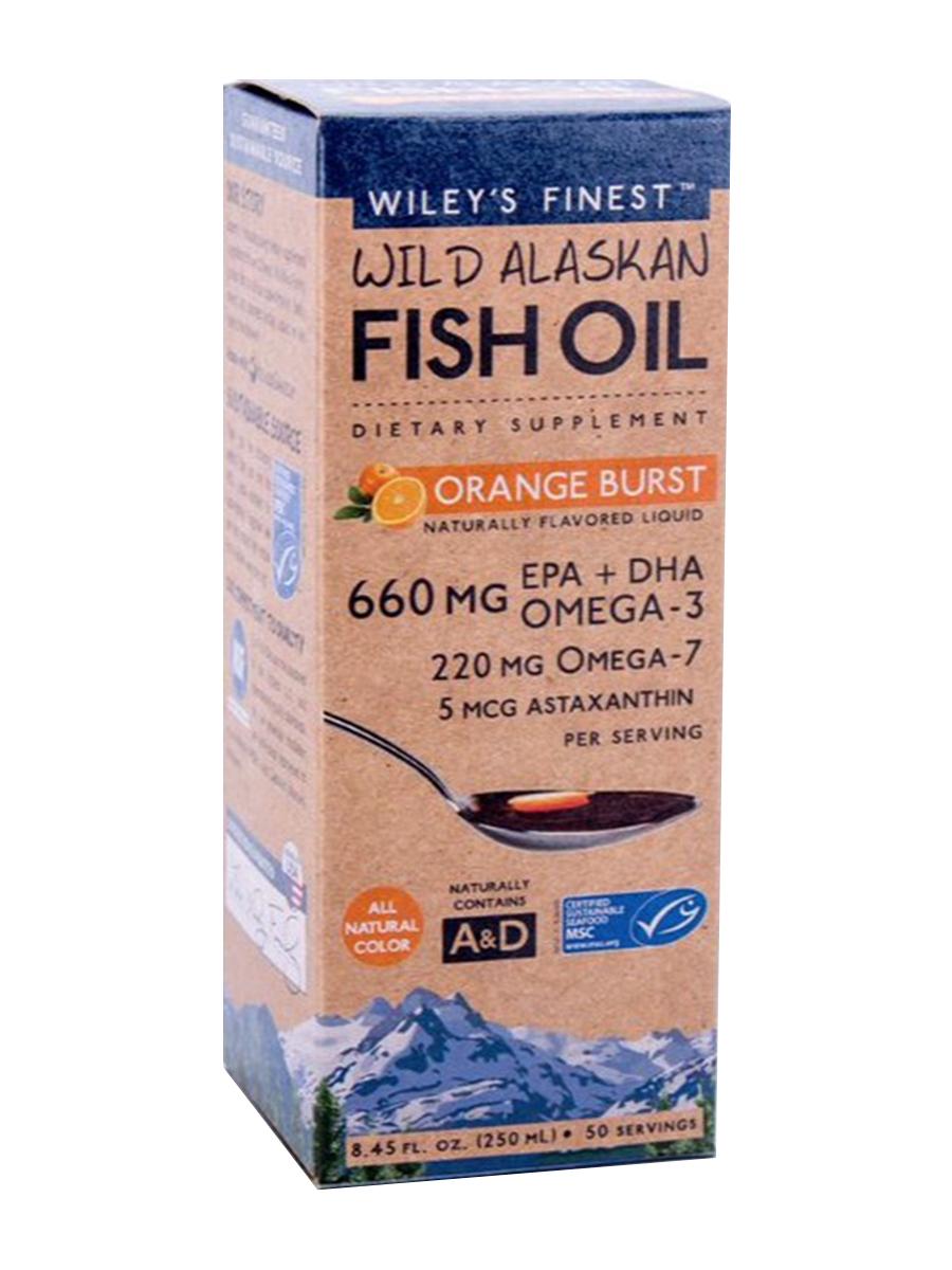 Wild alaskan fish oil orange burst fl oz 250 ml for Wiley s fish oil