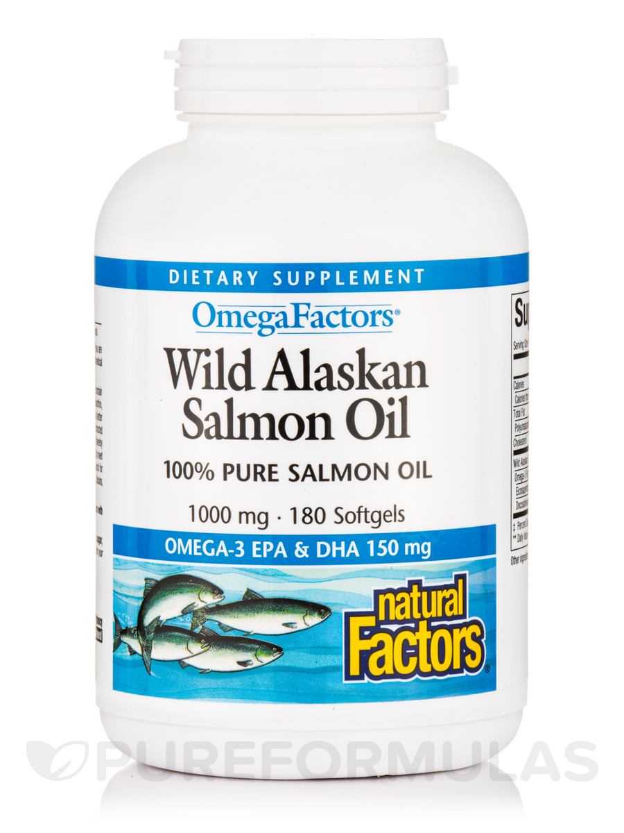Wild Alaskan Salmon Oil 1000 mg - 180 Softgels