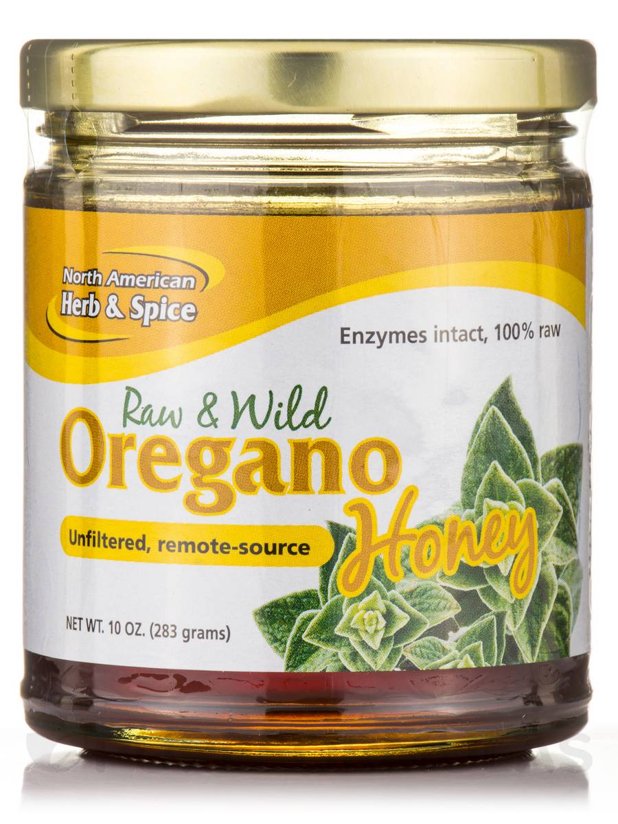 Wild Oregano Honey - 9.4 oz (266 Grams)