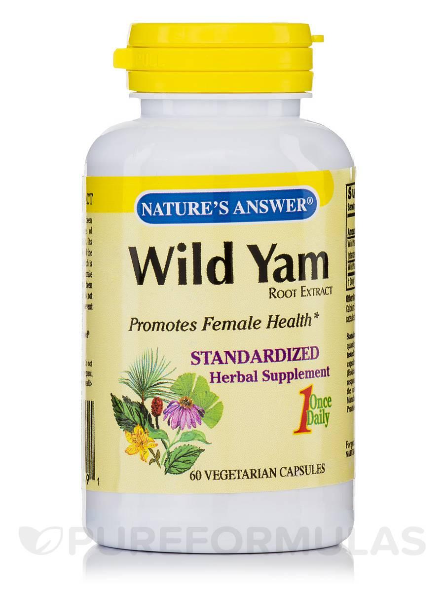 Wild Yam Root Extract - 60 Vegetarian Capsules