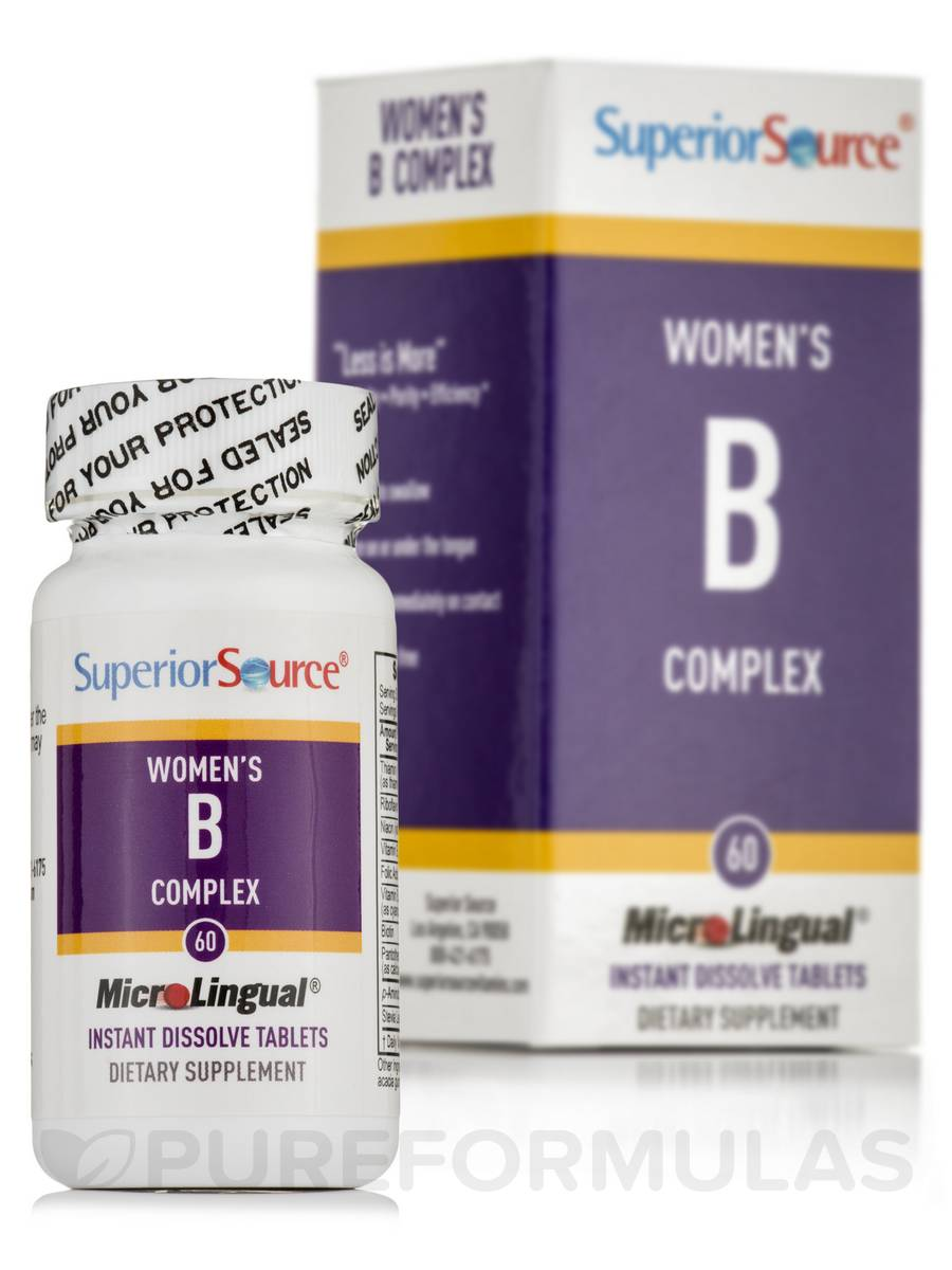 Women's B Complex B12 & Folic Acid - 60 Dissolvable Tablets