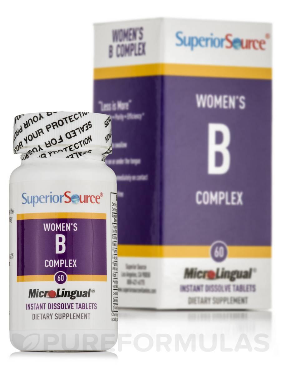 Women's B Complex B12 & Folic Acid - 60 MicroLingual® Tablets