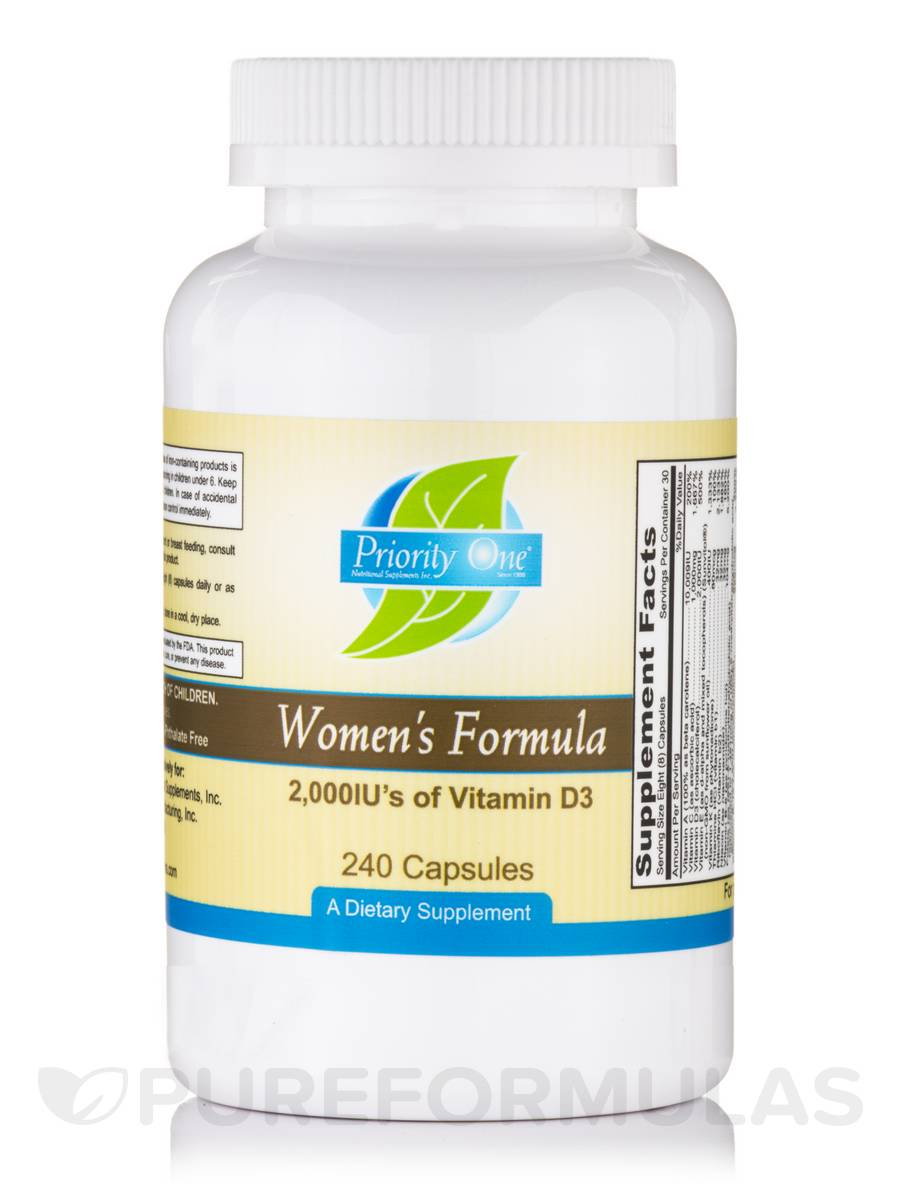 Women's Formula 2000 IU's of Vitamin D3 - 240 Capsules