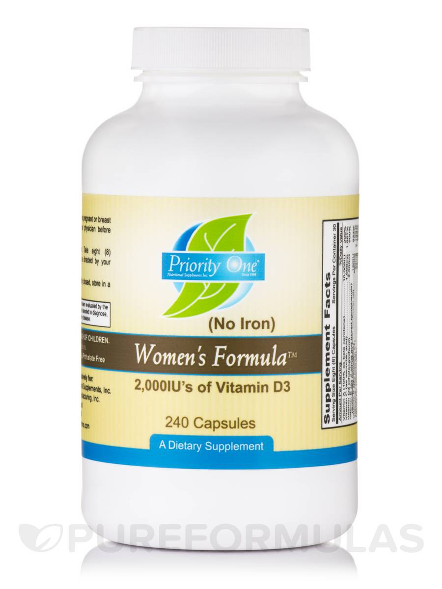 Women's Formula (w/o Iron) 2000 IU's of Vitamin D3 - 240 Capsules
