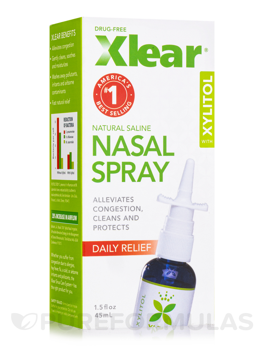 Xlear® Natural Saline Nasal Spray - Fast Relief - 1 5 fl  oz (45 ml)